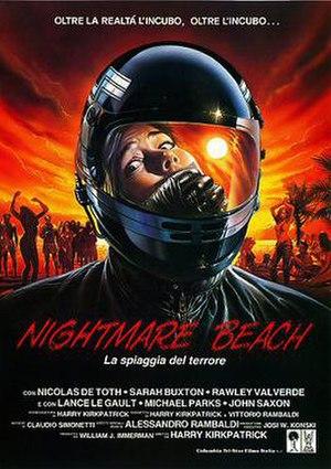 Nightmare Beach - Italian theatrical release poster by Renato Casaro