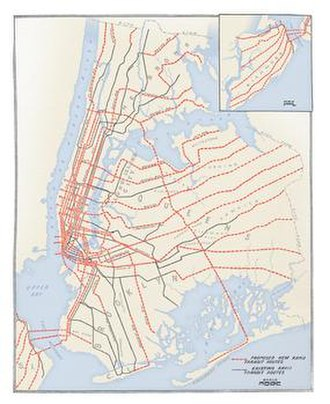 Proposed expansion of the New York City Subway - 1920 plan for expansion