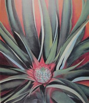 Pineapple Bud, oil on canvas painting by ''Geo...