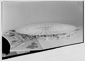 """Worldport (Pan Am) - The distinctive """"flying saucer"""" roof design of the Worldport"""