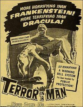 Terror Is a Man - Theatrical release poster