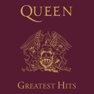 Greatest Hits (Queen album) - Image: Red Greatest Hits Quennalbumcover