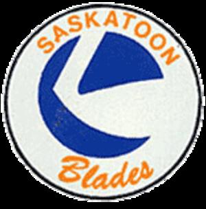 Saskatoon Blades - Saskatoon Blades Logo 1983/84 - 1992/93