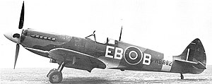 Supermarine Spitfire (Griffon-powered variants) - Another photo of MB882 showing the disc covers on the mainwheels.