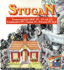 The cover art shows a red cottage in front of a grayscale forest and metal construct.