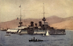 French battleship Suffren - Image: Suffren off the Dardanelles
