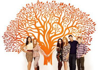 Switched at Birth (TV series) - Constance Marie, Katie Leclerc, Vanessa Marano, Lea Thompson, D.W. Moffett, and Lucas Grabeel