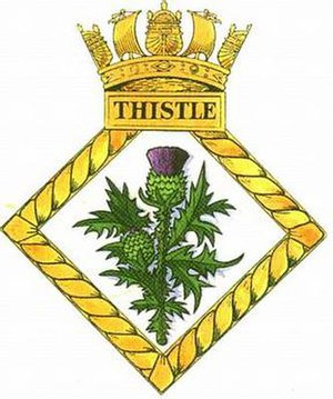 HMS Thistle (N24) - Image: THISTLE badge 1