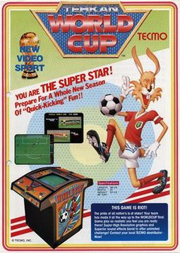 North American arcade flyer of Tehkan World Cup.