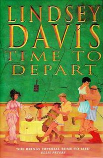 <i>Time to Depart</i> book by Lindsey Davis