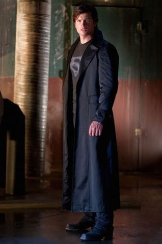 Clark Kent (Smallville) - In season nine, Clark began wearing a black costume while fighting crime in Metropolis.