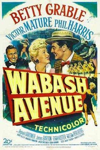 Wabash Avenue (film) - Image: Wabashavenue 1950