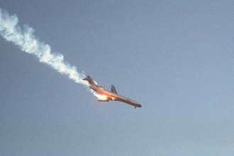 PSA Flight 182 - PSA182 seconds after the collision with Cessna 172.