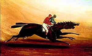 Miss Woodford - Miss Woodford beating Freeland in 1885