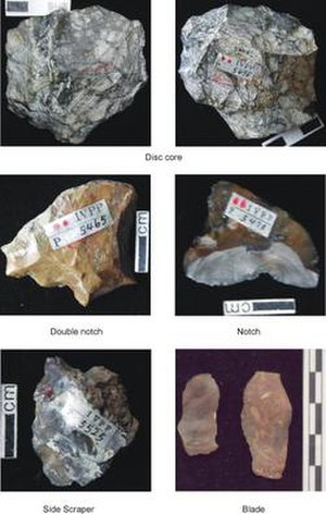 Xiaochangliang - Stone tools discovered at the Xiaochangliang site