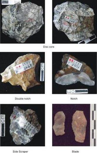Xiaochangliang - Stone tools discovered at the Xiaochangliang site