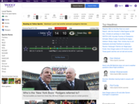 Yahoo! Sports homepage