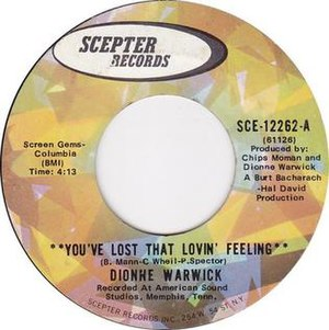 You've Lost That Lovin' Feelin' - Image: You've Lost That Lovin' Feelin' by Dionne Warwick US vinyl