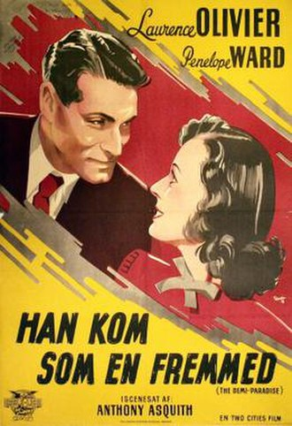The Demi-Paradise - Danish theatrical poster