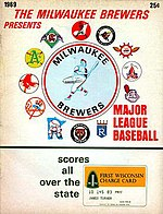 Program for a 1969 Chicago White Sox game played in Milwaukee.