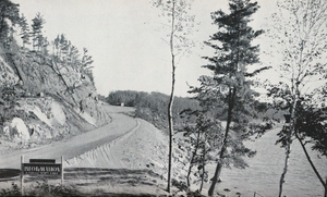 Ontario Highway 71 - Highway 71 overlooking Lake of the Woods in 1939