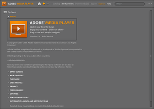 Adobe Media Player - Image: Adobe Media Player 18win