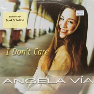 I Don't Care (Angela Via song) - Image: Angelaviaidon'tcare