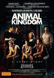 <i>Animal Kingdom</i> (film) 2010 Australian crime drama directed by David Michôd