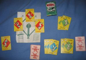 Baseball (card game) - Two outs, a full count, one RBI, and the bases are loaded: a standard deck (circa 1957) with the original diamond diagram.