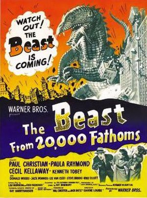 The Beast from 20,000 Fathoms - Theatrical release poster