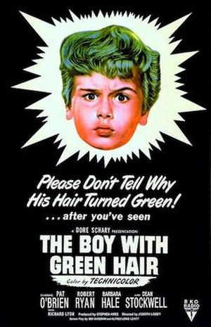 The Boy with Green Hair - Theatrical release poster