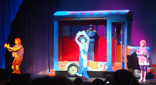 The Doodlebops and Bus Driver Bob at a Doodlebops Live! concert in Anaheim, California on February 29, 2008. - The Doodlebops