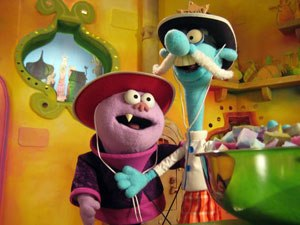 Chowder (TV series) - The puppet versions of the characters Chowder (a Hand-Rod puppet) and Mung Daal