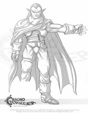 Chrono Resurrection - Concept art by Luis Martins, depicting his take on the character Magus originally designed by Akira Toriyama