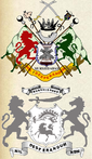 Coat of Arms of the Nawab Nizamm of Bengal, Bihar and  Orissa (top) and that of the Nawab Bahadur of Murshidabad (bottom)