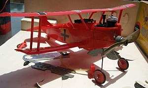 Cox model engine - Cox Fokker DVII Ready To Fly Control Line Model Plane