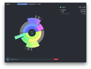 DaisyDisk running under macOS