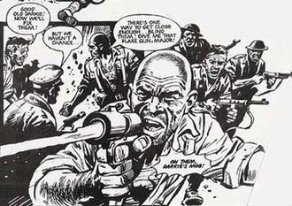"John Wagner - ""Darkie's Mob"", illustrated by Mike Western, from Battle Picture Weekly"