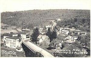 Gormania, West Virginia - Image: Gormania W Vfrom Bridge