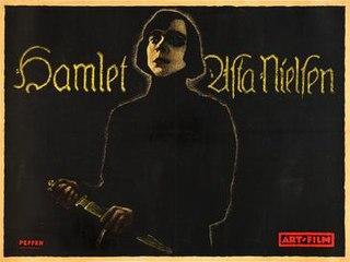 <i>Hamlet: The Drama of Vengeance</i> 1921 German film starring Asta Nielsen