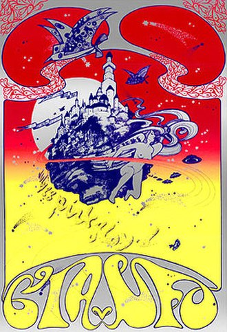 UFO Club - Poster for Pink Floyd at the UFO club, 28 July 1967, by Hapshash and the Coloured Coat