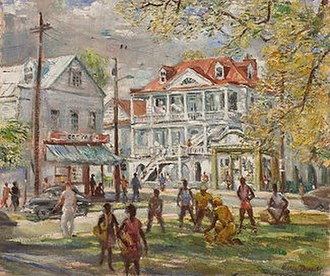 Pick-up game - A painting of a pick-up game by Horace Day.