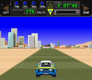 Big Run (video game) - Driving by Tripoli, Libya.