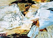 "An abstract expressionist painting by Jane Frank (1918-1986): ""Crags and Crevices"", 1961"
