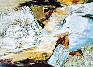 "Impasto - Crags and Crevices by Jane Frank (1960). As with many abstract expressionist works (and many so-called ""action paintings"" as well), impasto is a prominent feature."