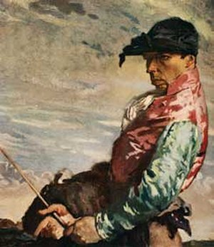 Horseracing in Great Britain - Jockey, Edwardian painting by the famous Irish artist William Orpen