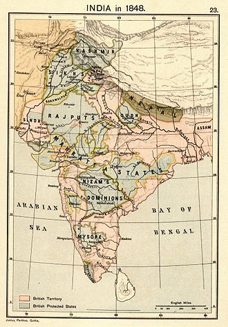 1840s - Map of India in 1848