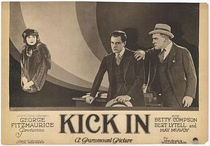 Kick In (1922 film) - 1922 lobby poster
