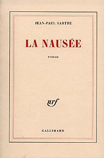 <i>Nausea</i> (novel) Novel by Jean-Paul Sartre