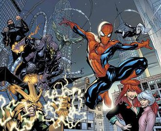 The Sensational Spider-Man (vol. 2) - Cover art for Marvel Knights Spider-Man No. 1. Art by Terry Dodson.